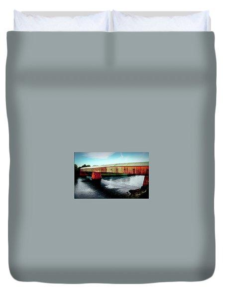 The Cornish-windsor Covered Bridge  Duvet Cover