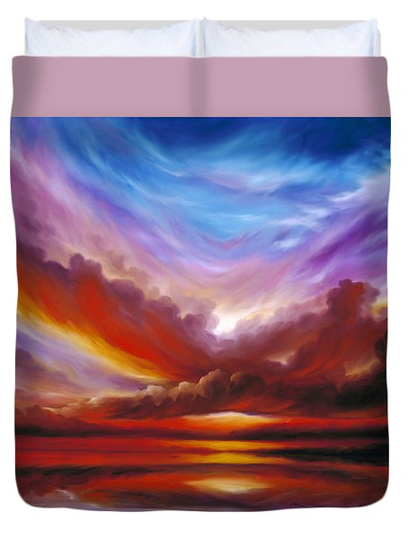 The Cosmic Storm II Duvet Cover