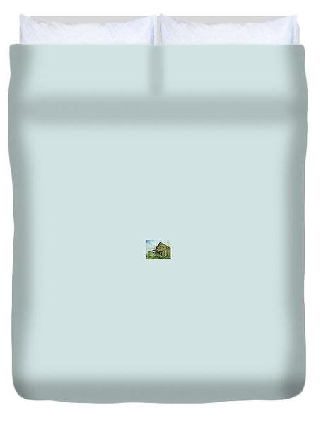 The Cosmopolitan Belmont Ghost Town Nevada Duvet Cover by Kevin Heaney