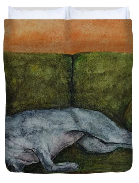 The Couch Potatoe Duvet Cover by Frances Marino
