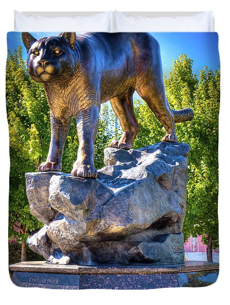 The Cougar Pride Sculpture Duvet Cover