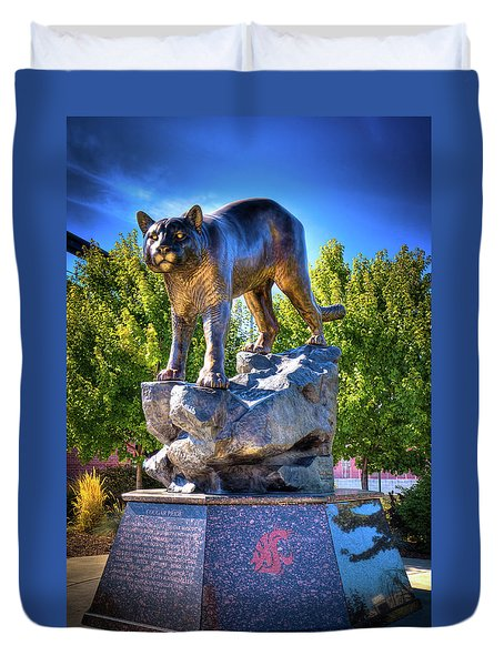 The Cougar Pride Sculpture Duvet Cover