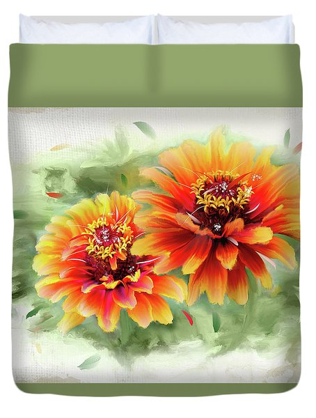 The Couple Duvet Cover by Mary Timman