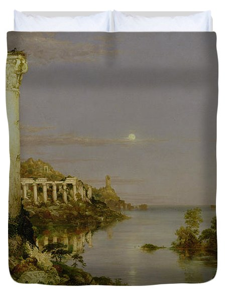The Course Of Empire - Desolation Duvet Cover by Thomas Cole