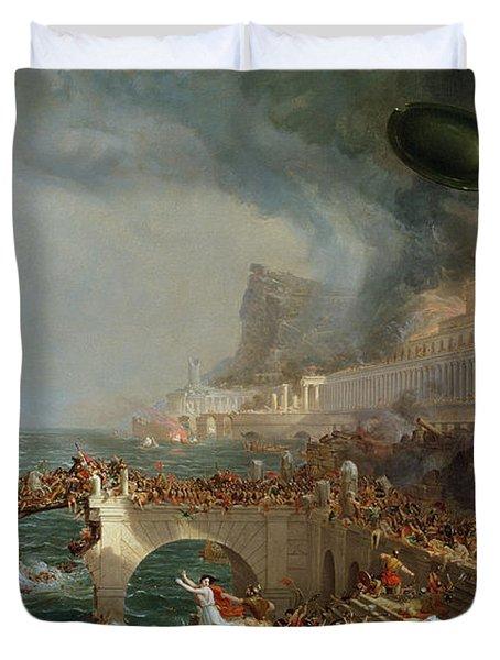 The Course Of Empire - Destruction Duvet Cover