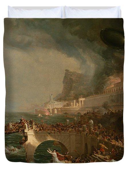The Course Of Empire Destruction Duvet Cover