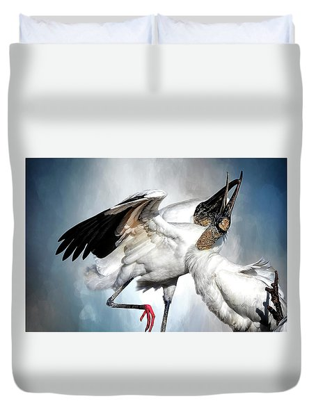 The Courtship Dance Duvet Cover