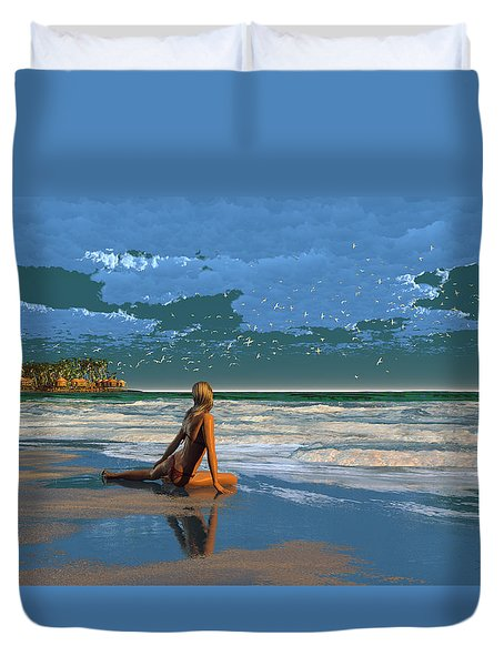 The Courtship Of Sand Duvet Cover