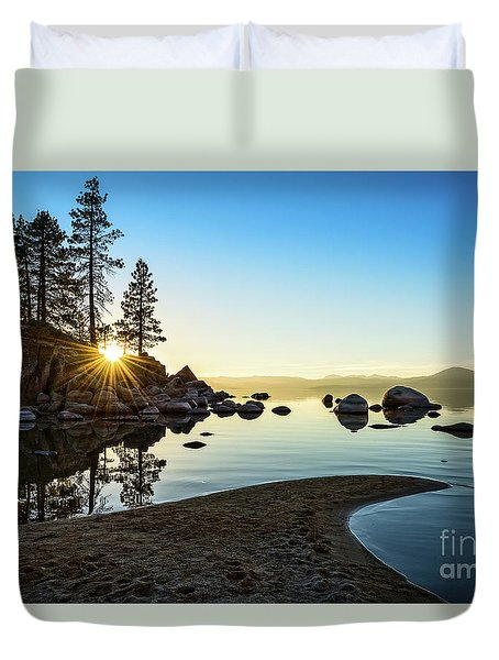 The Cove At Sand Harbor Duvet Cover