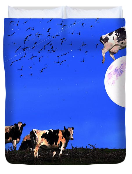 The Cow Jumped Over The Moon Duvet Cover