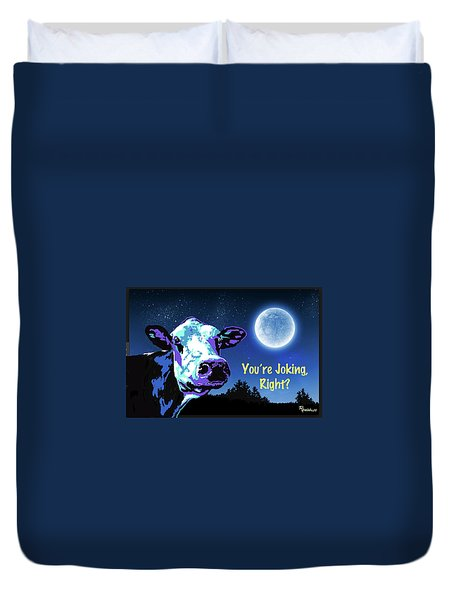 The Cow Jumps Over The Moon Duvet Cover