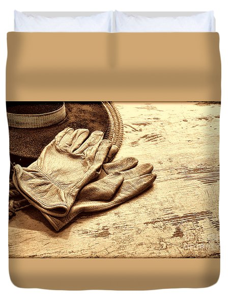 The Cowboy Gloves Duvet Cover