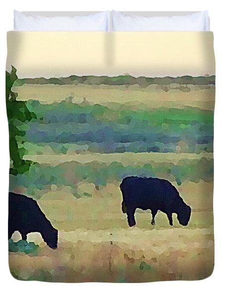 The Cows Next Door Duvet Cover
