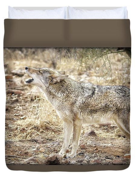 The Coyote Howl Duvet Cover