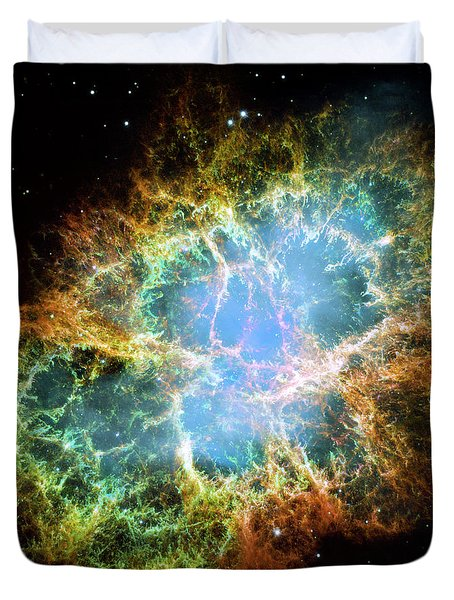 The Crab Nebula Duvet Cover by Nicholas Burningham