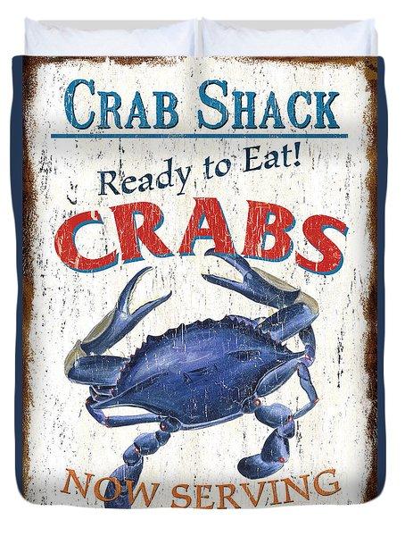 The Crab Shack Duvet Cover