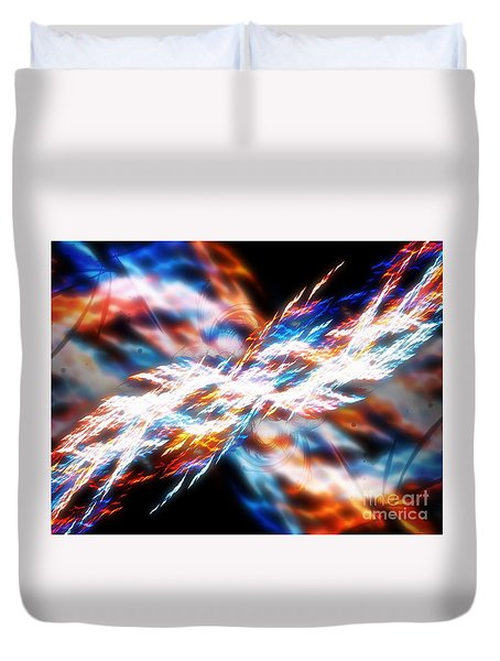 Duvet Cover featuring the digital art The Creation by Michal Dunaj