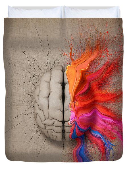 The Creative Brain Duvet Cover by Johan Swanepoel