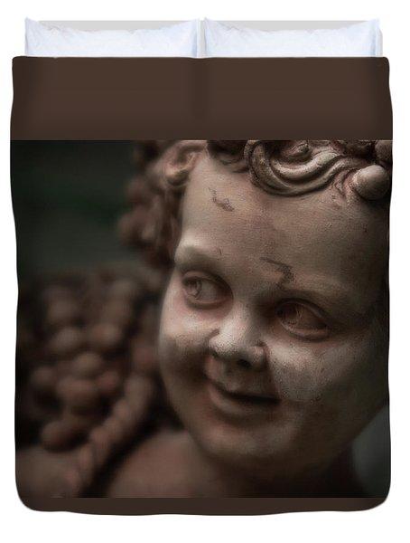 The Creepy Statue Duvet Cover