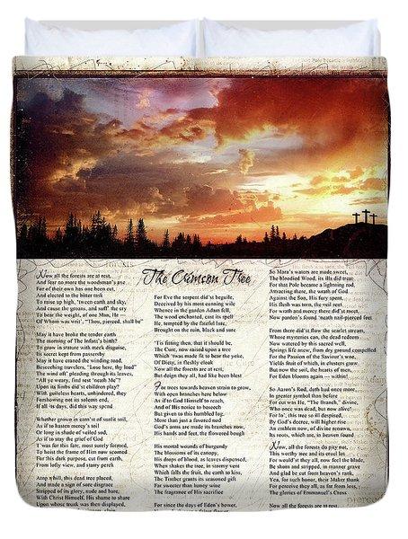 The Crimson Tree Poem Duvet Cover