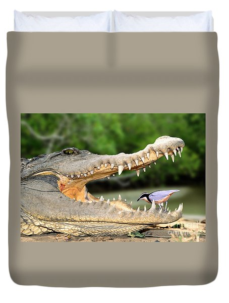 The Crocodile Bird Duvet Cover