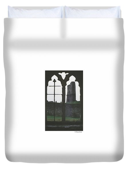 Duvet Cover featuring the photograph The Cross And The Castle by R Thomas Berner