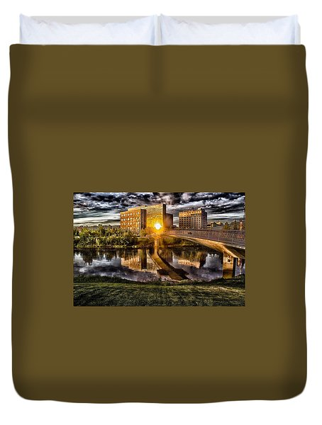 The Cross Duvet Cover by Michael Rogers