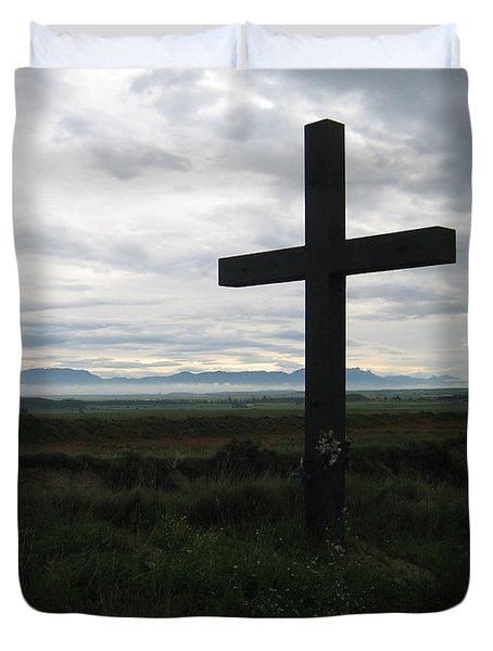 The Cross Duvet Cover by Oliver Johnston