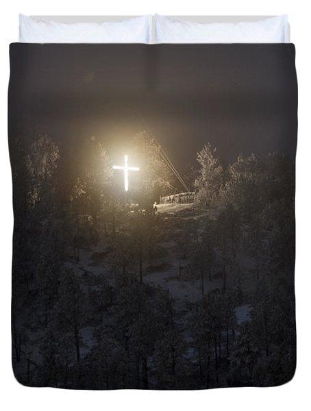 The Cross On Sundance Mountain Duvet Cover