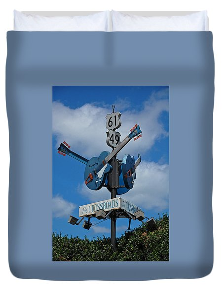 The Crossroads Duvet Cover