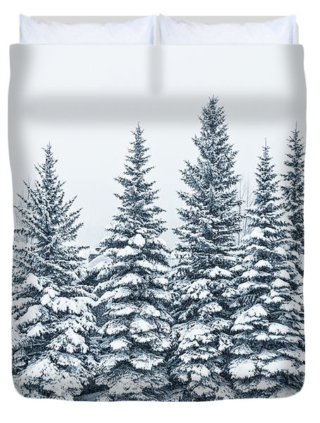 The Crown Of Winter Duvet Cover