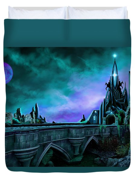 Duvet Cover featuring the painting The Crystal Palace - Nightwish by James Christopher Hill