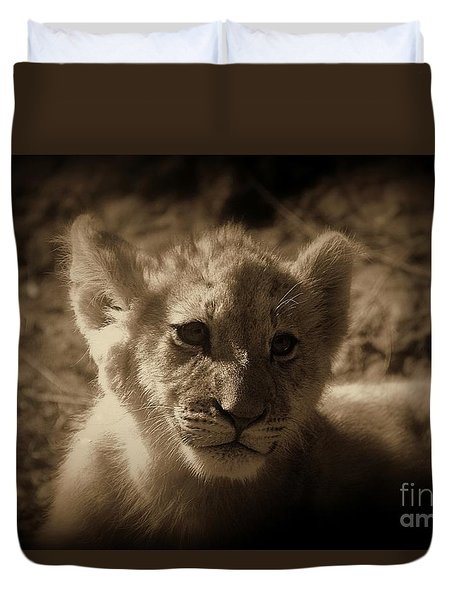 Duvet Cover featuring the photograph The Cub by Lisa L Silva
