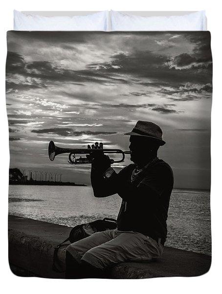 The Cuban Trumpeter 1 Duvet Cover