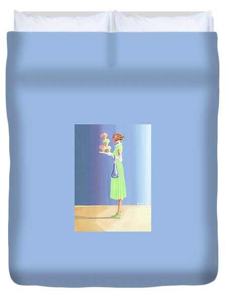The Cupcake Lady Duvet Cover