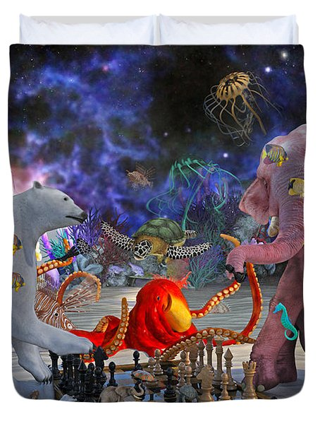 The Curious Game Duvet Cover