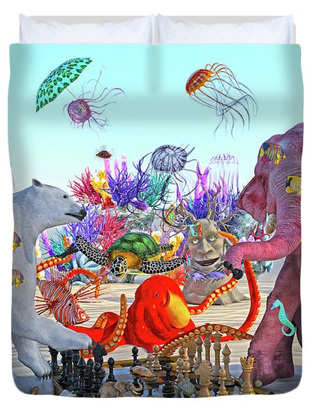 The Curious Game Hc Duvet Cover