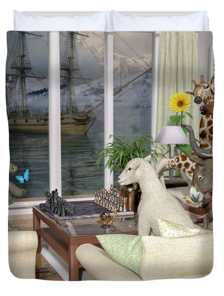 The Curious Room Duvet Cover