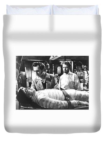The Curse Of Frankenstein 1957 Baron Victor Frankenstein Duvet Cover