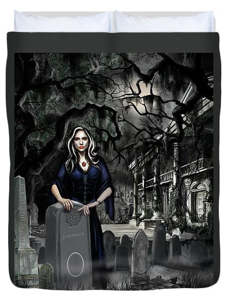 Duvet Cover featuring the painting The Curse Of Johnson Bayou by James Christopher Hill