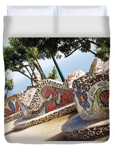 The Curves Of Parque Del Amor Duvet Cover
