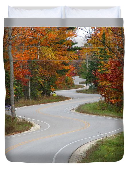 The Curvy Road Duvet Cover by Greta Larson Photography