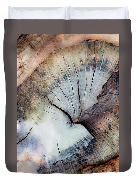 Duvet Cover featuring the photograph The Cut by Stephen Anderson