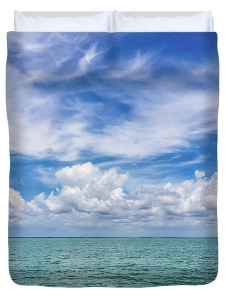 The Dance Of Clouds On The Sea Duvet Cover