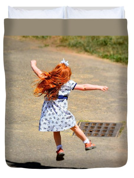 Duvet Cover featuring the photograph A Little Expression by Gary Smith