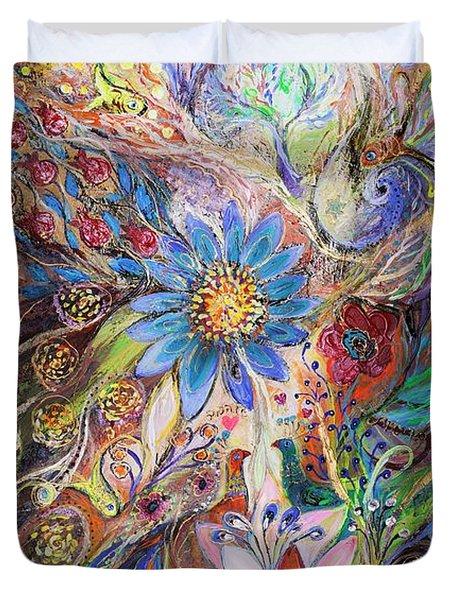 The Dance Of Light Duvet Cover by Elena Kotliarker