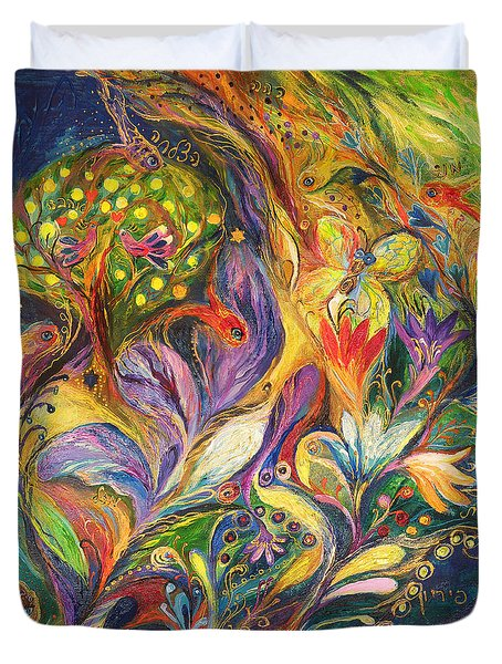 The Dance Of Lilies Duvet Cover by Elena Kotliarker