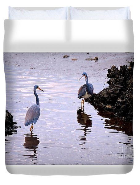 Duvet Cover featuring the photograph The Dance by Shelia Kempf