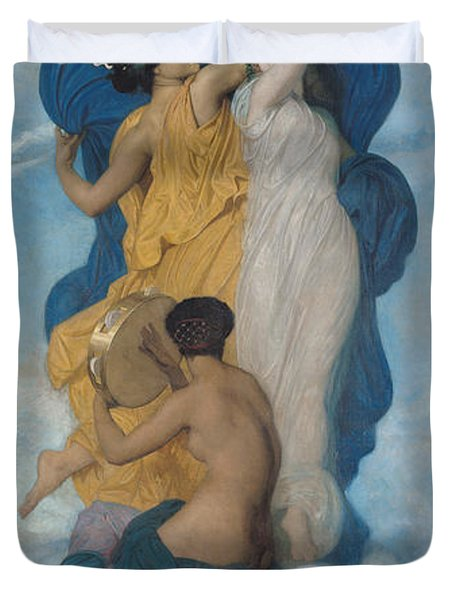 The Dance Duvet Cover by William-Adolphe Bouguereau
