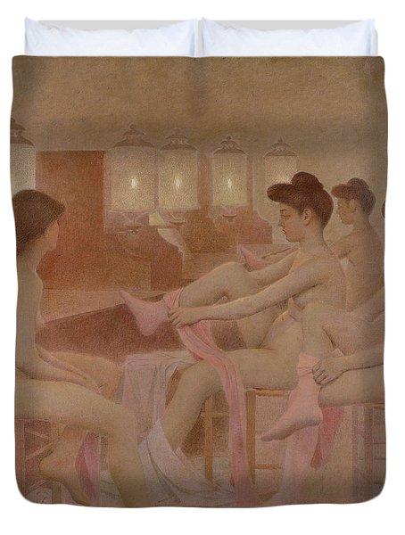 The Dancers Duvet Cover by Fernand Pelez
